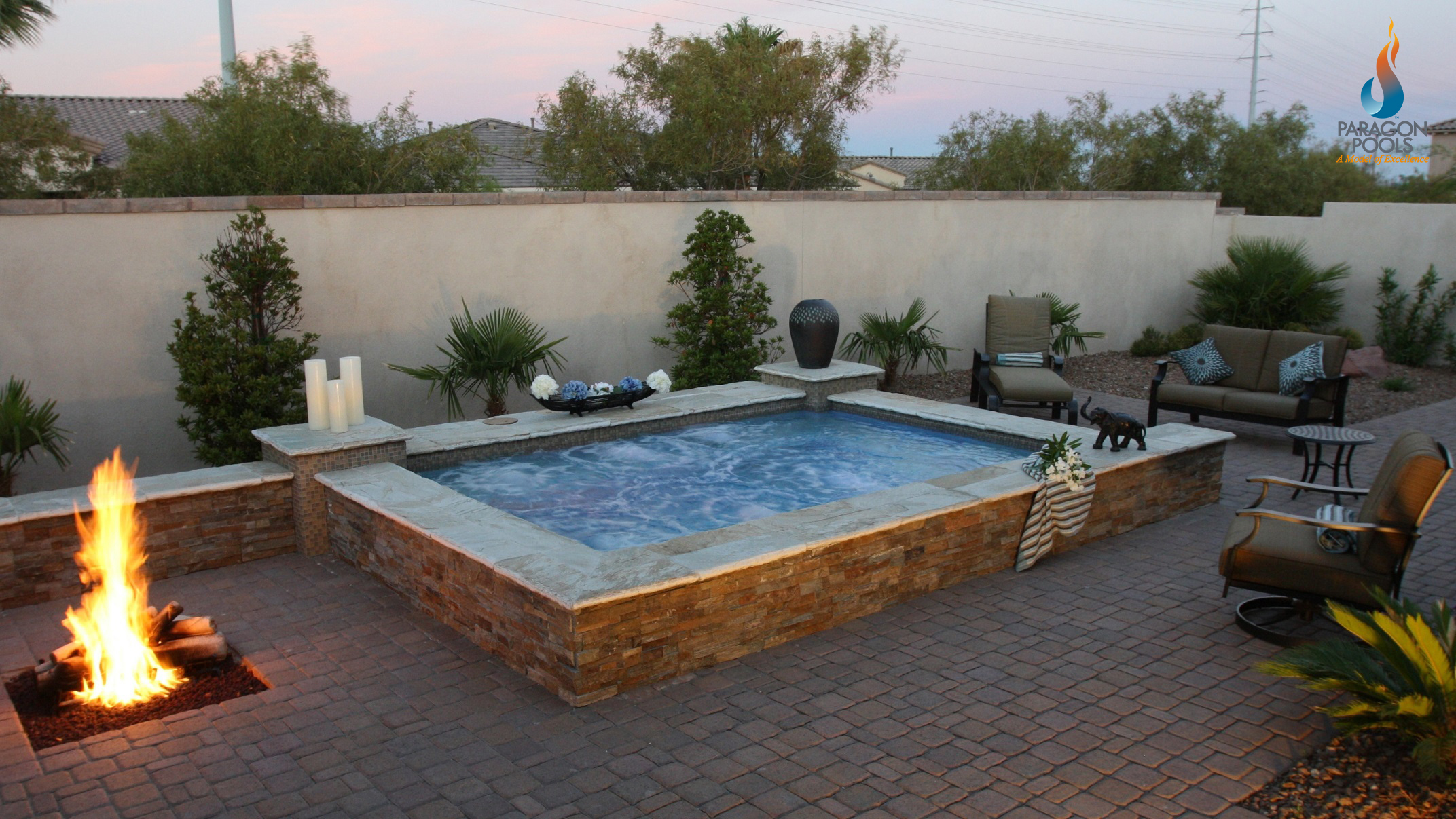 Custom spas for Custom pool builder